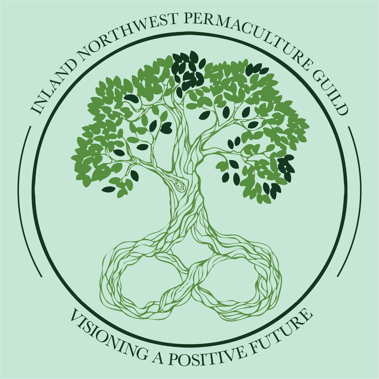 INPG Logo. Tree with roots shaped like the infinity symbol.