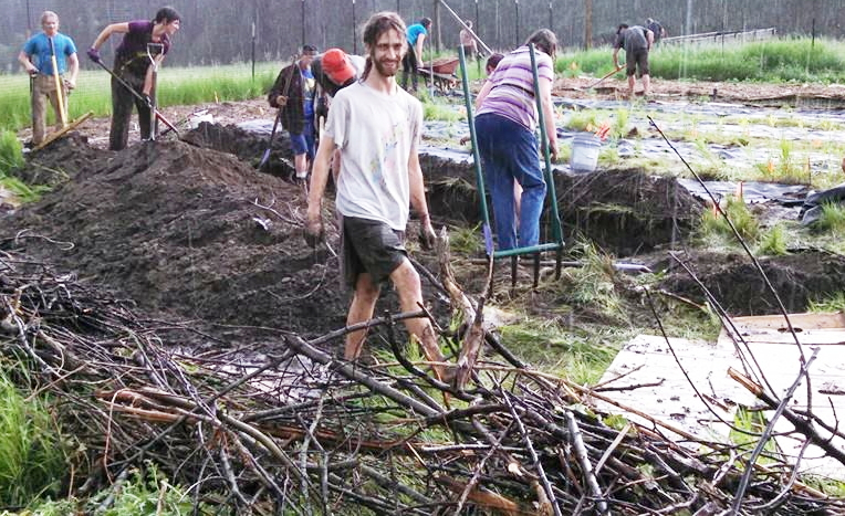 Group permaculture project.