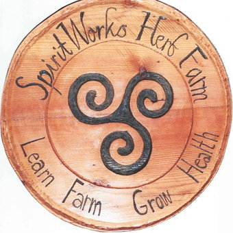 SpiritWorks Herb Farm logo